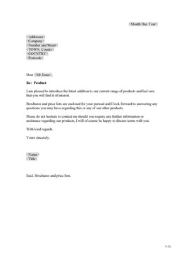 Sales letter - New product (UK)