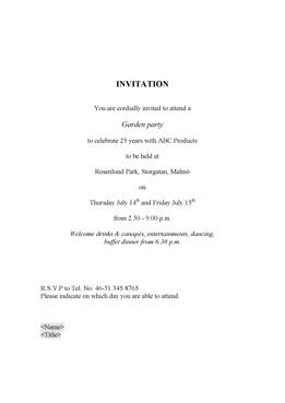 Invitation (UK)